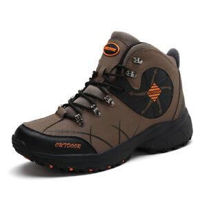 Waterproof-Men-039-s-Hiking-Shoes-High-Top-Trekking-Climbing-Boots-Outdoor-Athletic