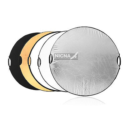 """Handheld 110cm 43"""" 5 in1 photograpy Reflector Light Multi Collapsible Board Disc"""