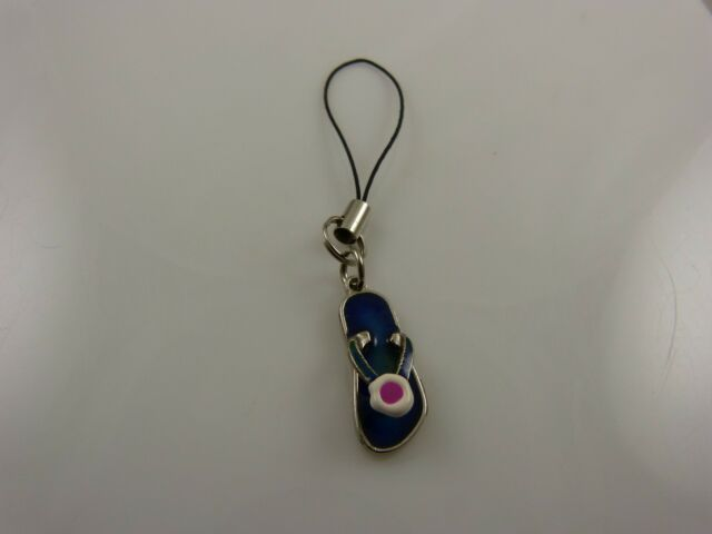 Mood silvertone sandal bling cell phone charm purse charms multi color