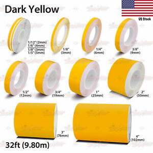 Yellow Details about  /Reflective Pinstripes Vinyl Pinstriping Tape Pin Stripe Sticker Decal