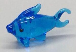 Ganz Miniature Glass Figurine Light Blue Dolphin