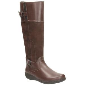 au Clarks Pd100 € Bottes foncé genou marron pour cuir Taille 37 dames 4 en d87q8wf