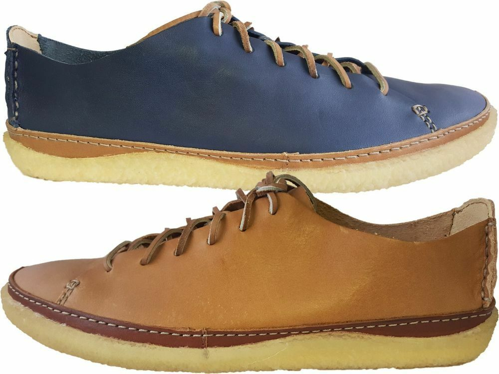 Clarks Originals da Uomo x Vulco ARROW in pelle Blu UK Leather, UK, , G