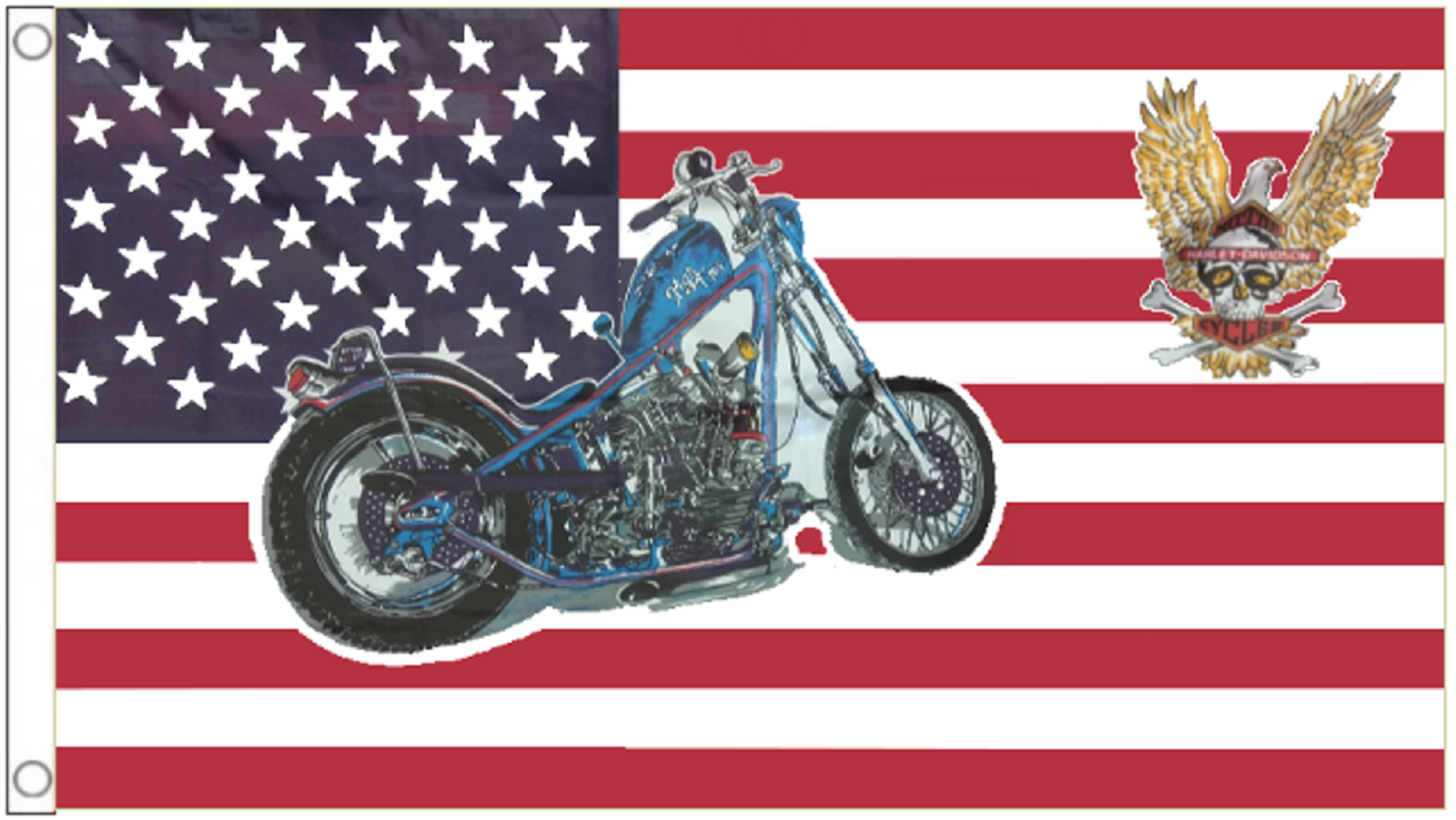 Moto et aigle États-Unis OF OF OF AMERICA ETATS-UNIS 5' x 3' DRAPEAU db0fdb