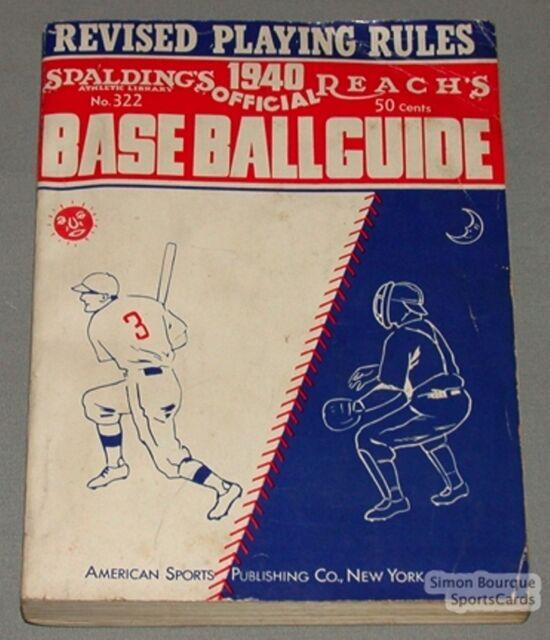 Original 1940 Spalding's Reach's MLB Baseball Guide