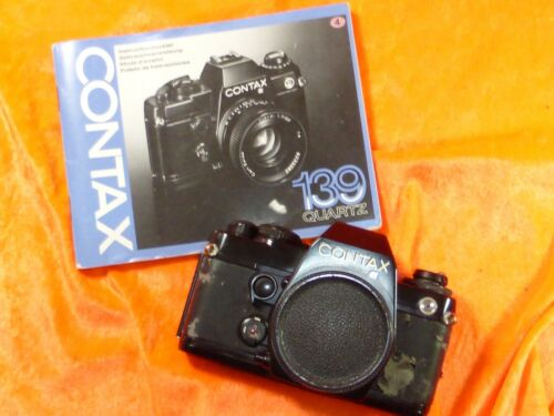 CONTAX 139 QUARTZ SLR 35mm BLACK BODY CONTAX YASHICA BJONETT