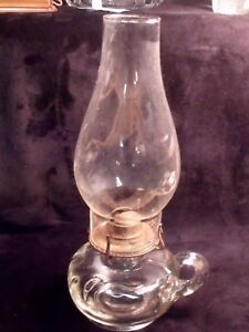 ANTIQUE-CLEAR-GLASS-5-034-KEROSENE-FINGER-LAMP