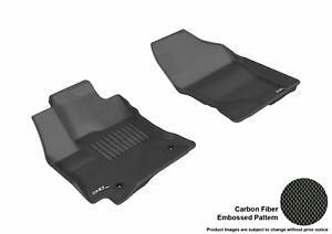 For 2014-2019 Toyota Corolla Kagu Black All Weather Front Floor Mat Set