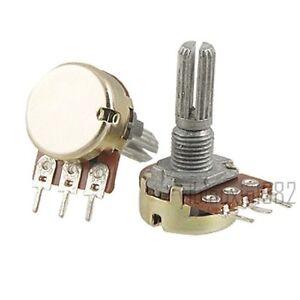 10 Pcs B200K 200K ohm Single Linear Taper Ratory Potentiometers