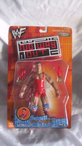 RARE WWF No Way Out Kurt Angle action figure de Jakks Pacific 2001 NEUF t982