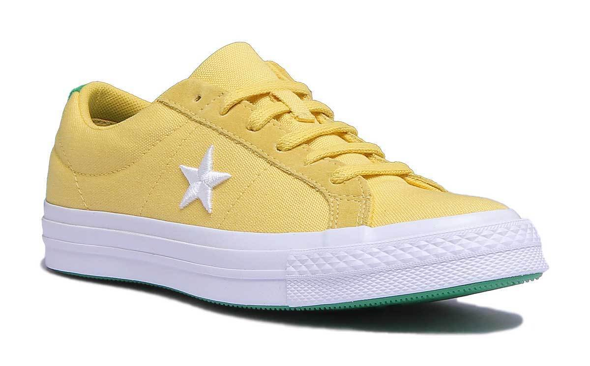 Converse One Star Canvas Country Pride Women Canvas Yellow Trainer UK Size 3 - 8