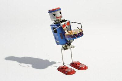 Roboter Mit Trommel °° Tin Toy °° Jouet En Tôle °° Blechspielzeug Skeleton Hingebungsvoll