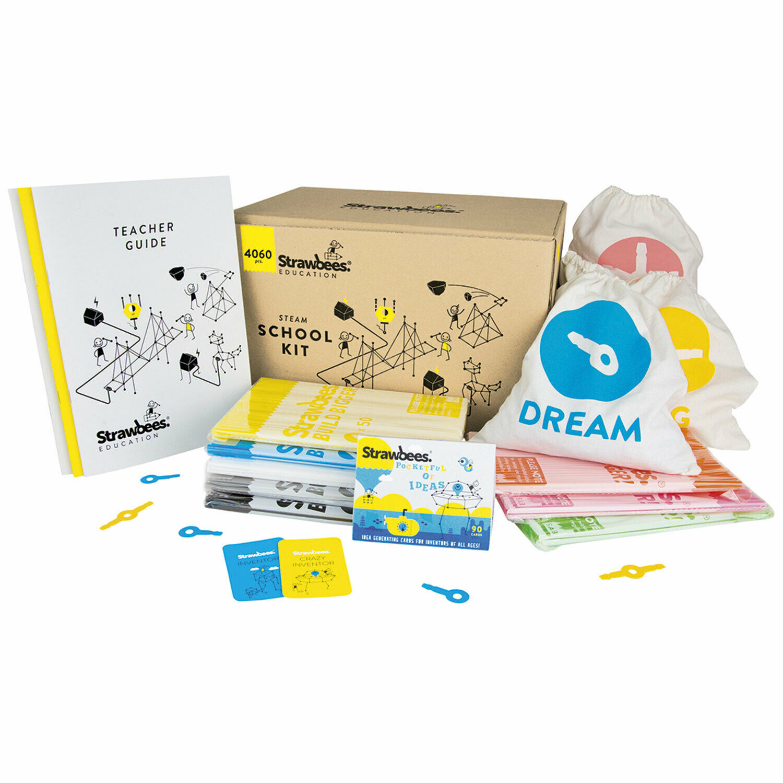 Strawbees School Kit Konstruktionsspiel Experimente Baukasten für Schule 35506