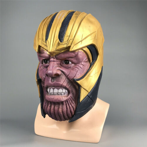 Avengers 4 Endgame Thanos Mask Helmet Cosplay Halloween Party Collection Props