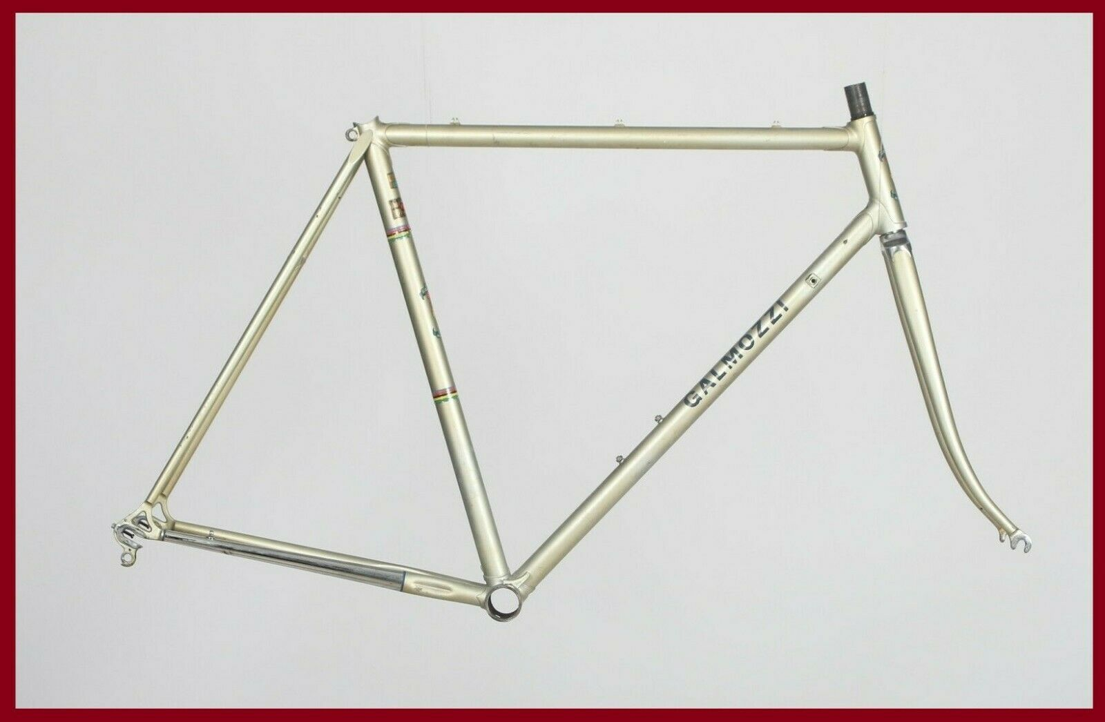 GALMOZZI VINTAGE STEEL  FRAME SET FRAMESET CAMPAGNOLO ROAD BIKE BICYCLE 70s OLD  cheap and high quality