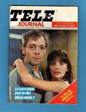 ►TELE JOURNAL N°464 - 1983 - PATRICK DEWAERE & ARIEL BESSE