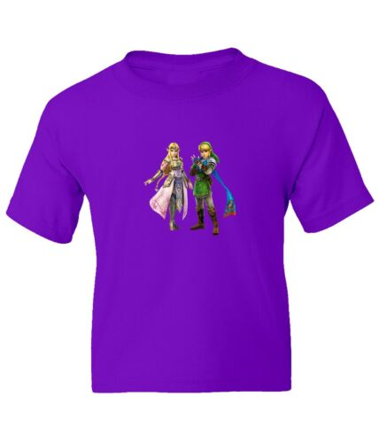The Legend of Zelda Hero Link and Queen Zelda Kid Girl Boy Crew Neck Top T-Shirt