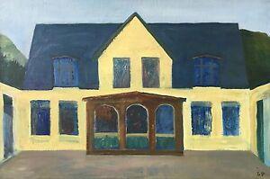 Surrealist-Steffen-borrow-Petersen-1910-034-THE-OLD-CAFE-034-Modern-Danish-Art