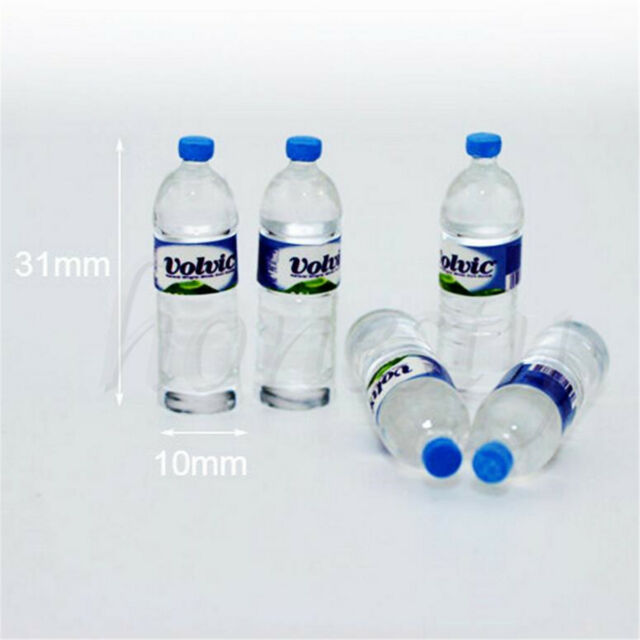 2pcs Bottle Water Drinking Miniature DollHouse 1:12 Accessory Collection Deco 6H