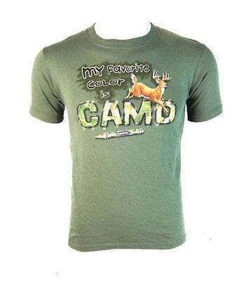"""""""il Mio Preferito Colore è Camo"""" Ragazzi T-shirt-gioventù M (9-10 Anni)-mostra Il Titolo Originale Una Gamma Completa Di Specifiche"""