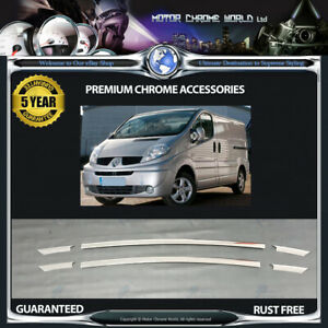 RENAULT-TRAFIC-CHROME-BUMPER-TRIMS-HIGH-QUALITY-5y-GUARANTEE-2010-2014-OFFER