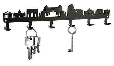 Rom Skyline - Key Hook Wall Key Holder - Hooks Design Steel - NEW