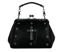 MINI GOTHIC METAL CROSS GOTHX Black Backpack Rucksack Steam Punk Rock Goth Bag