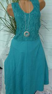 Sheego Eventkleid Abendkleid Kleid mit Spitze Gr. 48 ...
