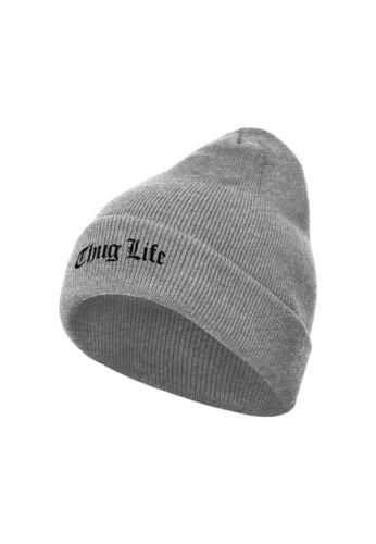 Thug Life Old English Beanie tl018 Grey