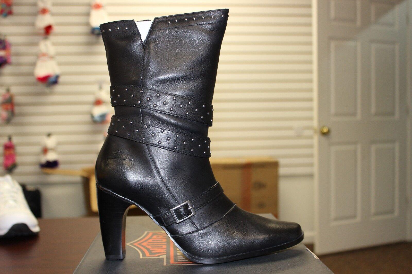 ti aspetto Donna  Harley Davidson Tawny stivali nero Leather Leather Leather D83559 Genuine Leather New  miglior reputazione
