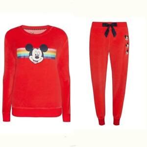 scarpe sportive 3b770 60a9b Dettagli su Primark Donna Disney Mickey Mouse Edizione Natalizia Maglione  Nightwear Pjs Set- mostra il titolo originale