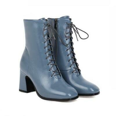 Details about  /New Women Chelsea Western Pattern Zip Up Pointy Toe Block Mid Heel Ankle Boots D