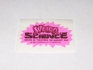 RARE-1984-WEIRD-SCIENCE-MOVIE-PROMO-STICKER-JOHN-HUGHES-KELLY-LEBROCK
