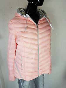 l738 Mit Zu Metallic Silber Jacke Rosa Steppjacke Gr Übergangsjacke Details Trendy pGqSzUMV