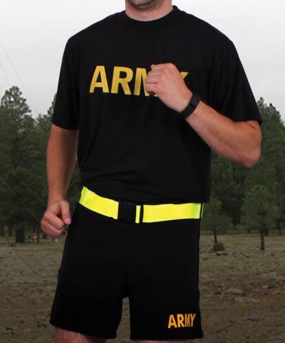 Neon Grün Signalfarbe Reflektierend Sicherheit Gürtel Gelb US Army Armee Lauf PT