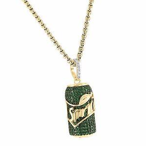 Sprite can syrup drink pendant green simulated diamond gold on 925 la foto se est cargando sprite can syrup drink pendant green simulated diamond aloadofball Gallery