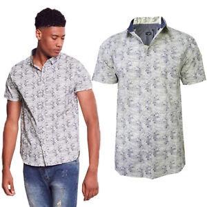 Brave-Soul-Homme-Designer-Terrell-a-Manches-Courtes-Premium-Coton-Top-Chemise-Decontractee