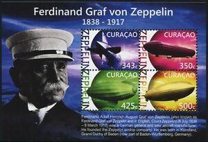 Curaçao 2015 Ferdinand Graf Von Zeppelin Dirigeables Airships ** Neuf Sans Charnière Dans La Douleur