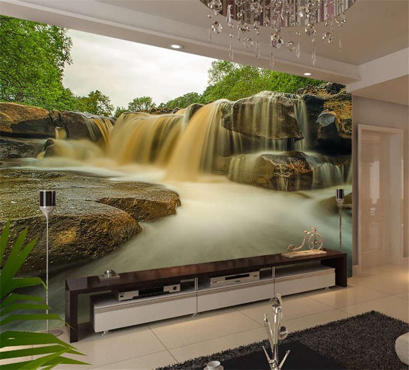 Waterfall Rainbow River Full Wall Mural Photo Wallpaper Print Kids Home 3D Decal