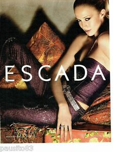 PUBLICITE ADVERTISING 116  2002   Escada  haute couture joaillerie