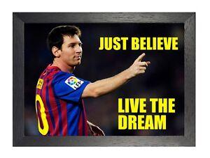 Détails Sur Lionel Messi 2 Motivational Football Citation Inspirante Passion Poster Afficher Le Titre D Origine