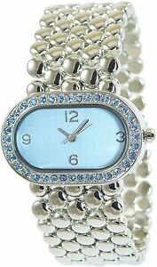 Damenuhr-Blau-Silber-Analog-Armbanduhr-Strass-Quarz-D-50742425081599