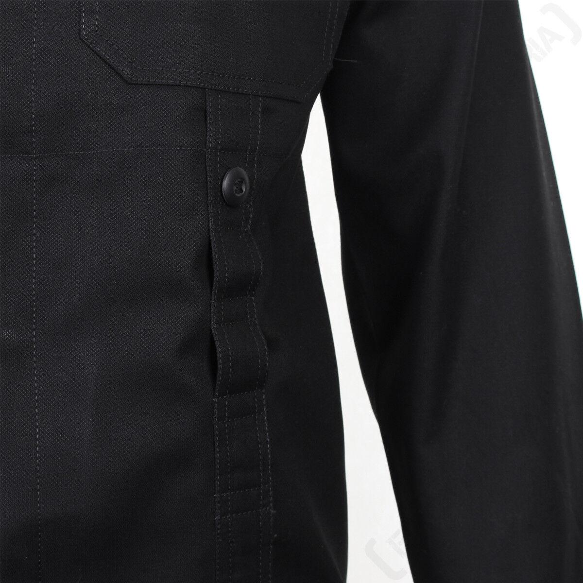 Allemand Style Ancien Taupe Veste De Terrain - Noir Noir Noir 100% Coton Armée Militaire da21f9