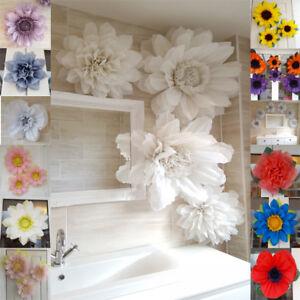christening wedding pom pom paper flower wall tissue venue