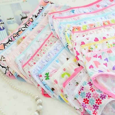 6Pcs Baby Kid Girl Soft Underwear Cotton Panties Short Briefs Underpants Cute
