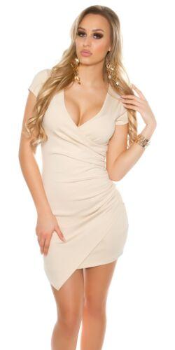 KOUCLA robe manches courtes Mini-robe Asymétrique