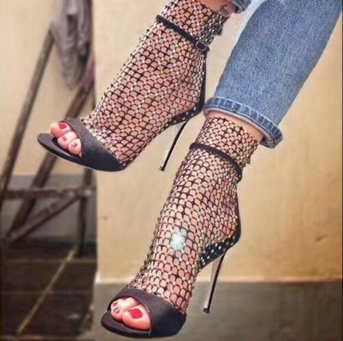 ouvrent strass chaussures des Les talons hauts femmes sandales à Haihk talons creux D29WEIYeH