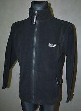 Jack Wolfskin Damen Schwarz Fleecejacke Trainingsanzug Oberteil Größe Größe M