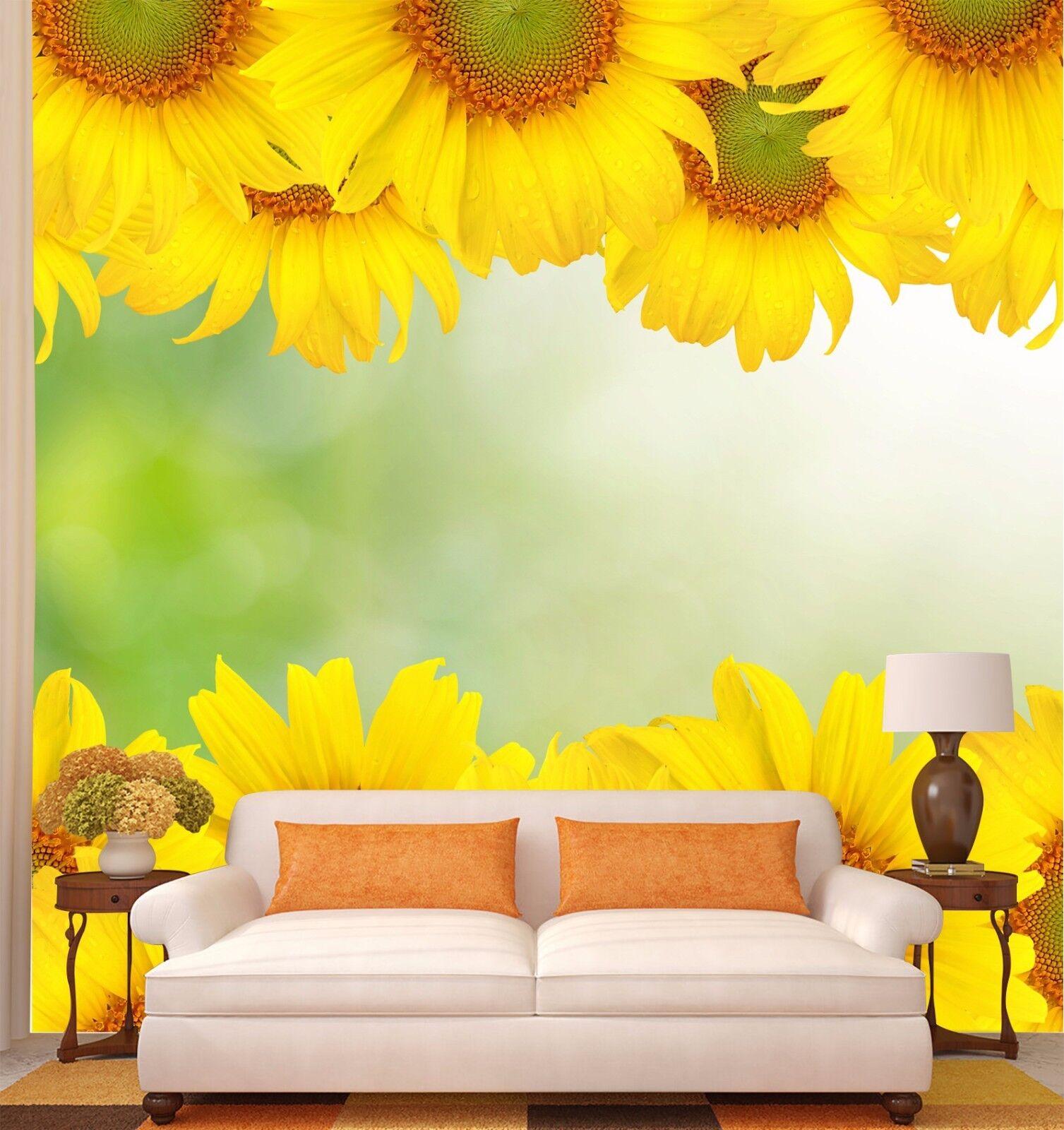 3D Sunflower Flowers 7 Wall Paper Murals Wall Print Wall Wallpaper Mural AU Kyra