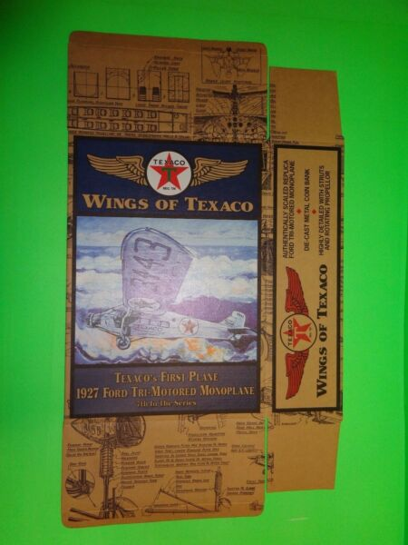 #7 TEXACO 1927 FORD TRI-MOTORED MONOPLANE AIRPLANE REGULAR EDITION - BOX ONLY